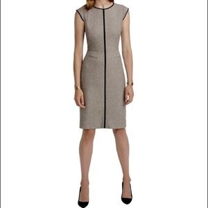 JCrew Cap Sleeve Dress Piped Donegal